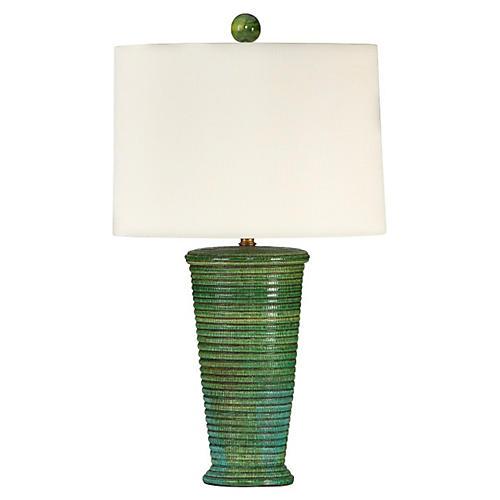 Oceanside Table Lamp, Green