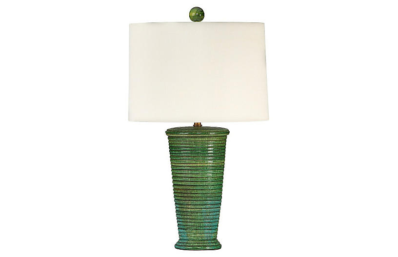 Oceanside Table Lamp, Green