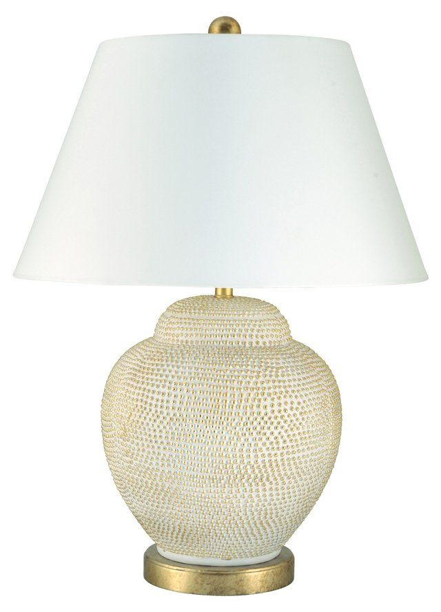Catalina Table Lamp, Cream/Gold