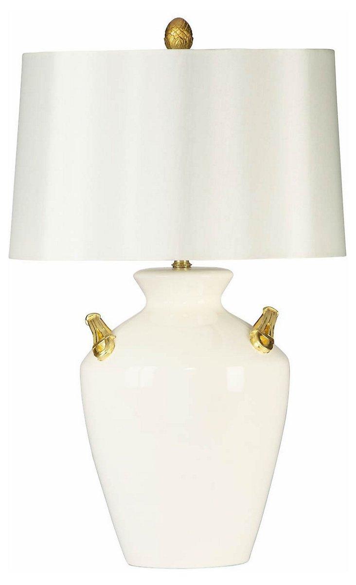 Belmont Table Lamp, Cream