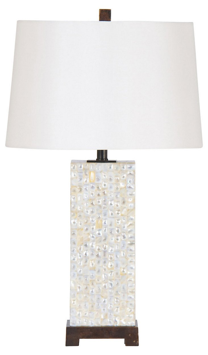 Caribbean Table Lamp, Mother-of-Pearl