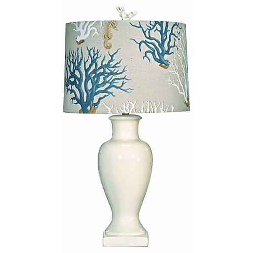 Sea Island Table Lamp, Cream