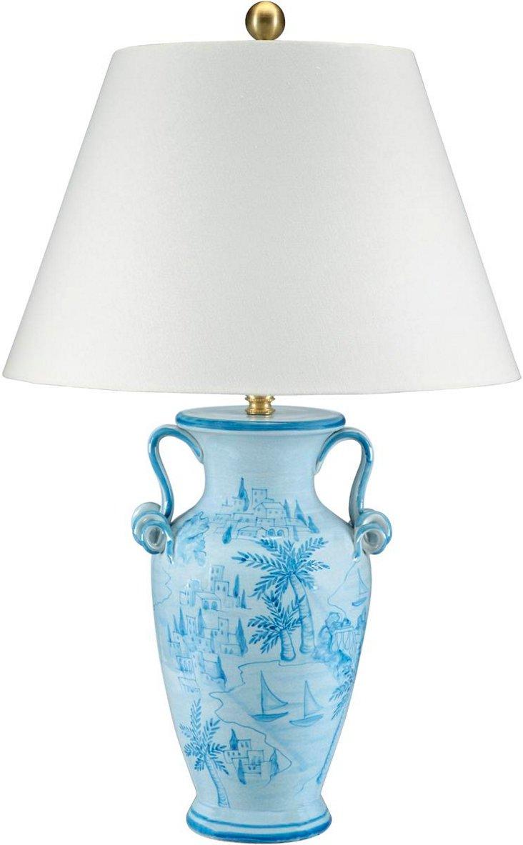 Caribbean Coast Table Lamp, Sky Blue