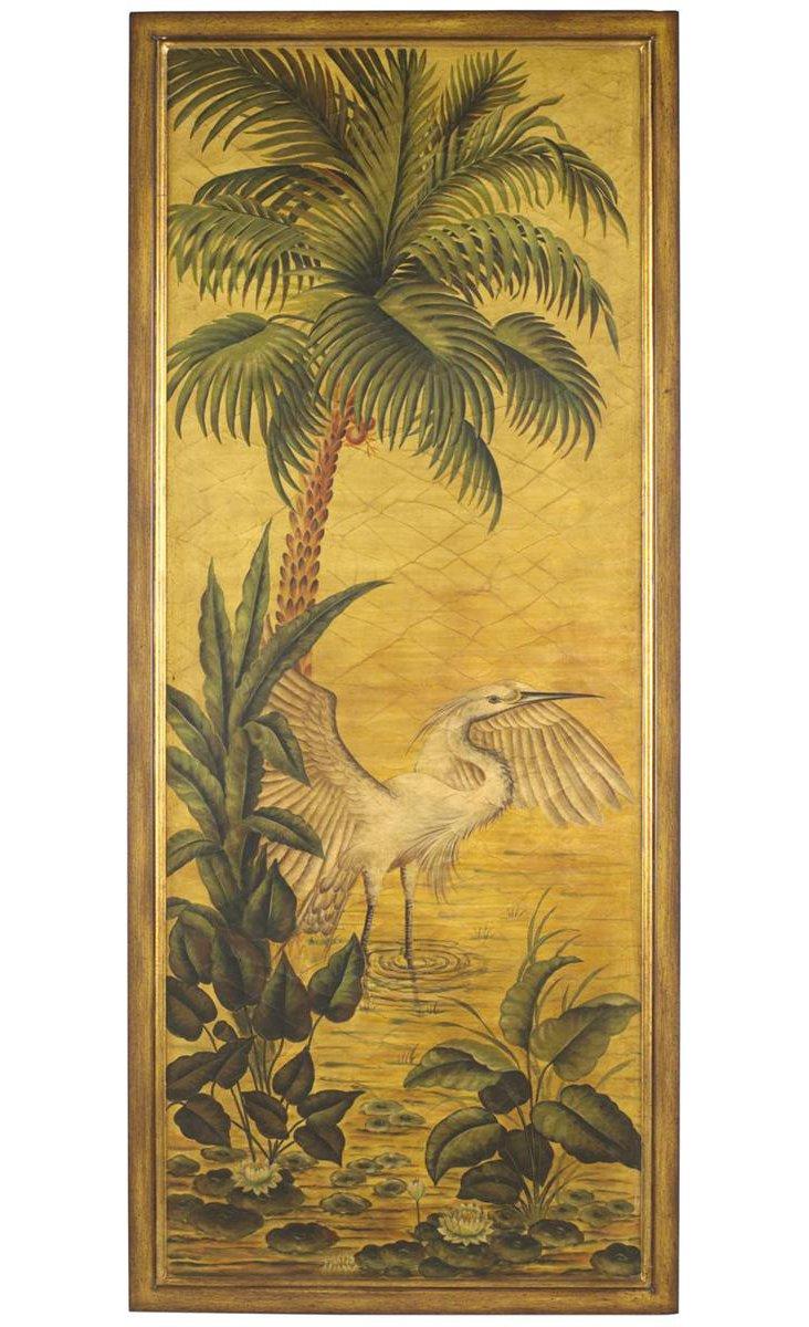 Egret Palm Panel, Right