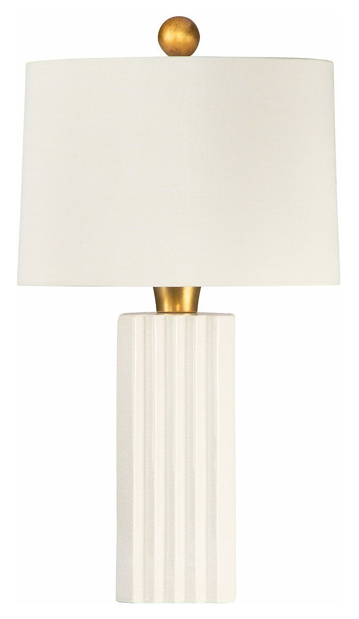 Madison Avenue Table Lamp, Cream