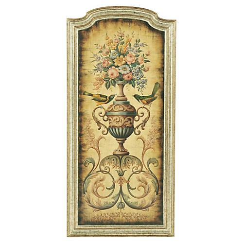 Anastasia Floral Urn Panel, Left