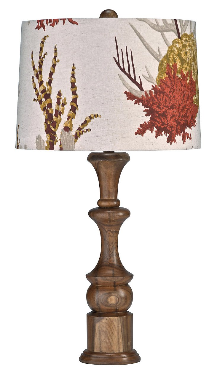 Tropical Latitude Lamp, Natural Teak