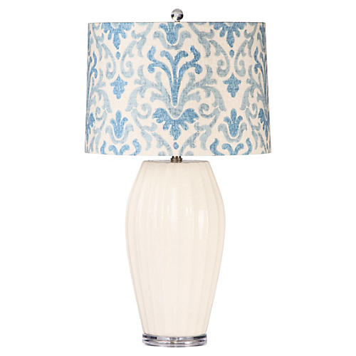 Sabrina Table Lamp, White