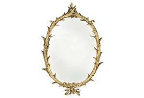 Gilded Reed Wall Mirror, Gold*