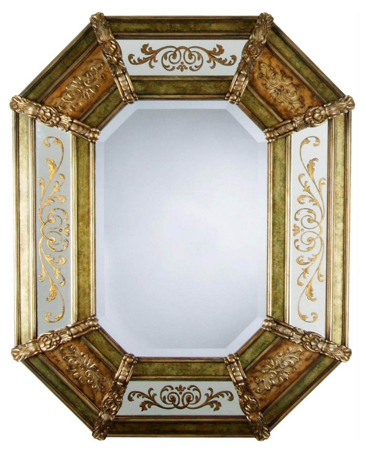 Versailles Wall Mirror, Gold