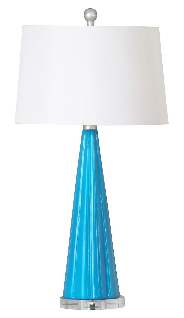 Essence Table Lamp, Blue