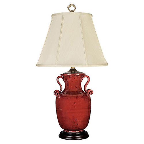 Esme Couture Table Lamp, Oxblood