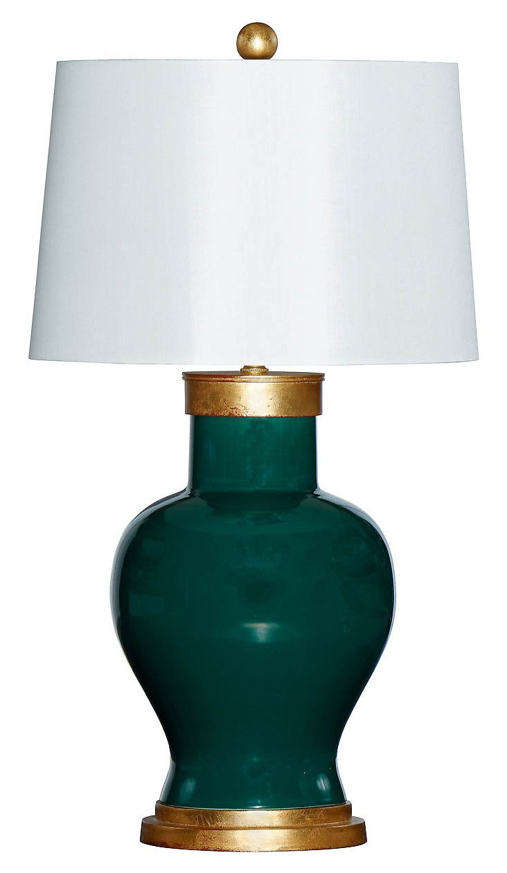 Cove Table Lamp, Emerald
