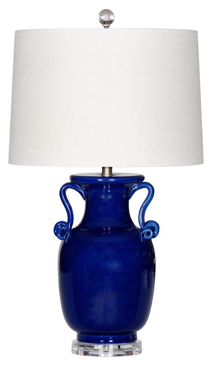 Maritime Table Lamp, Navy Glaze