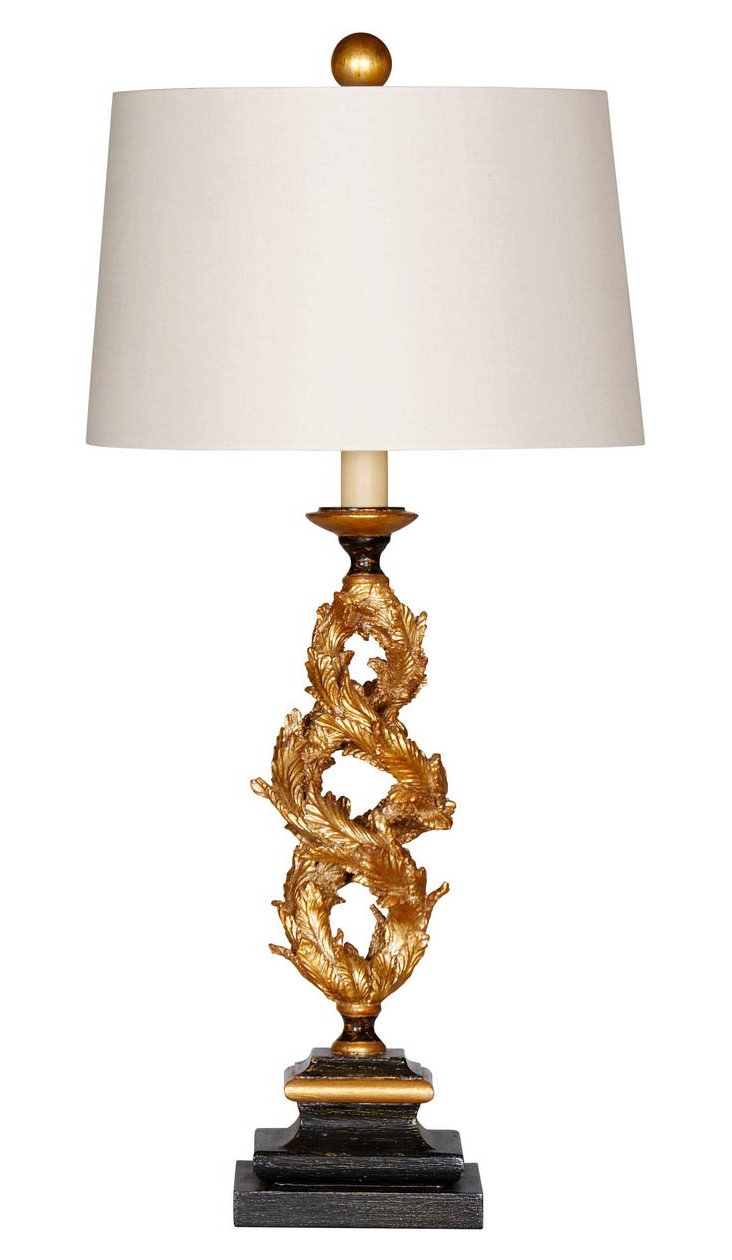 Gilded Vine Table Lamp, Gold Leaf