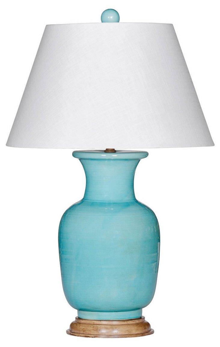 Lanai Table Lamp, Aqua