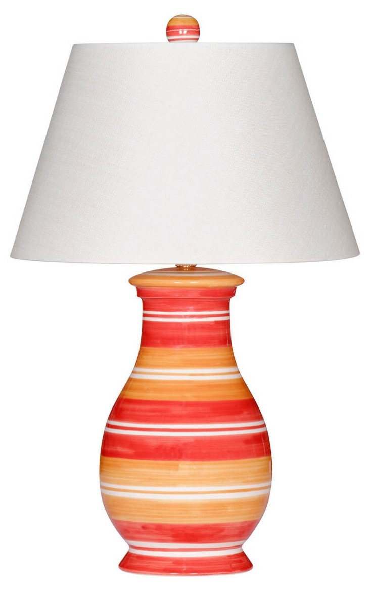 East Hampton Lamp, Vermilion/Orange