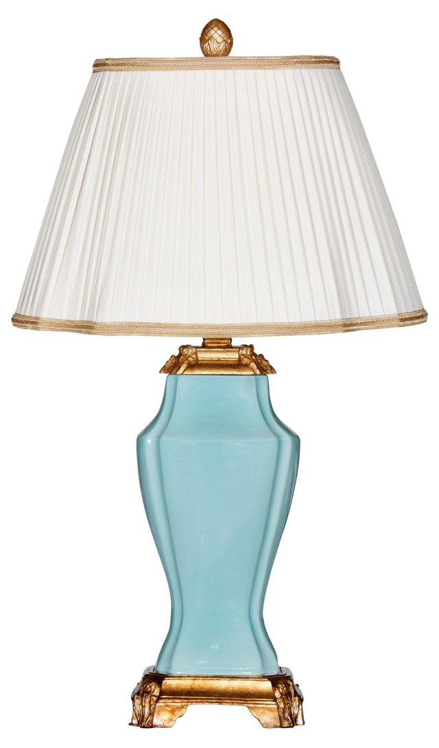 Aquabella Table Lamp, Aqua