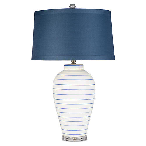Hamptons Table Lamp, Navy