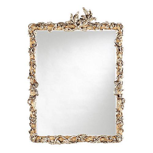 Silver Vine Mirror, Antique Cream