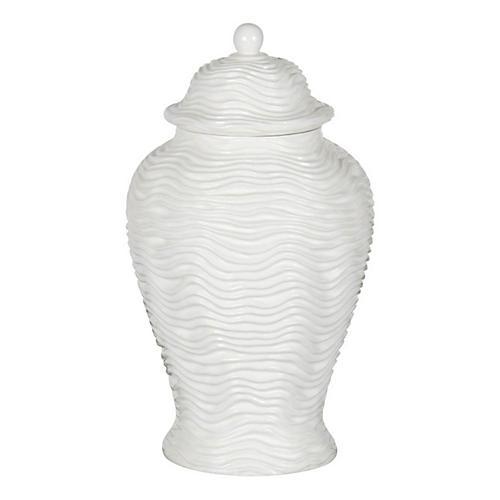"""15"""" Arctic Wave Temple Jar"""