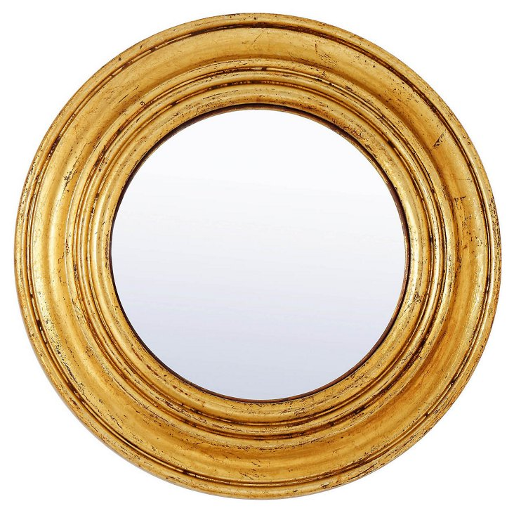 French Circles Mirror, Gold