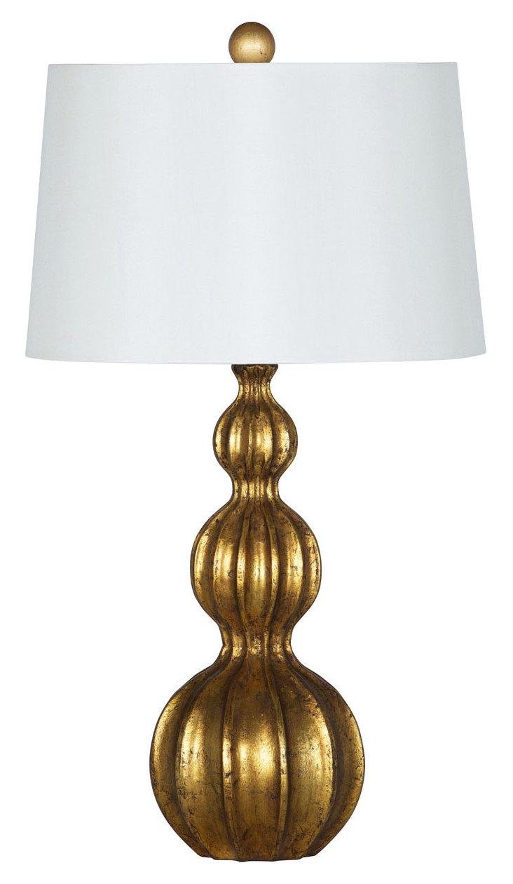 Aurélie Table Lamp, Gold Leaf