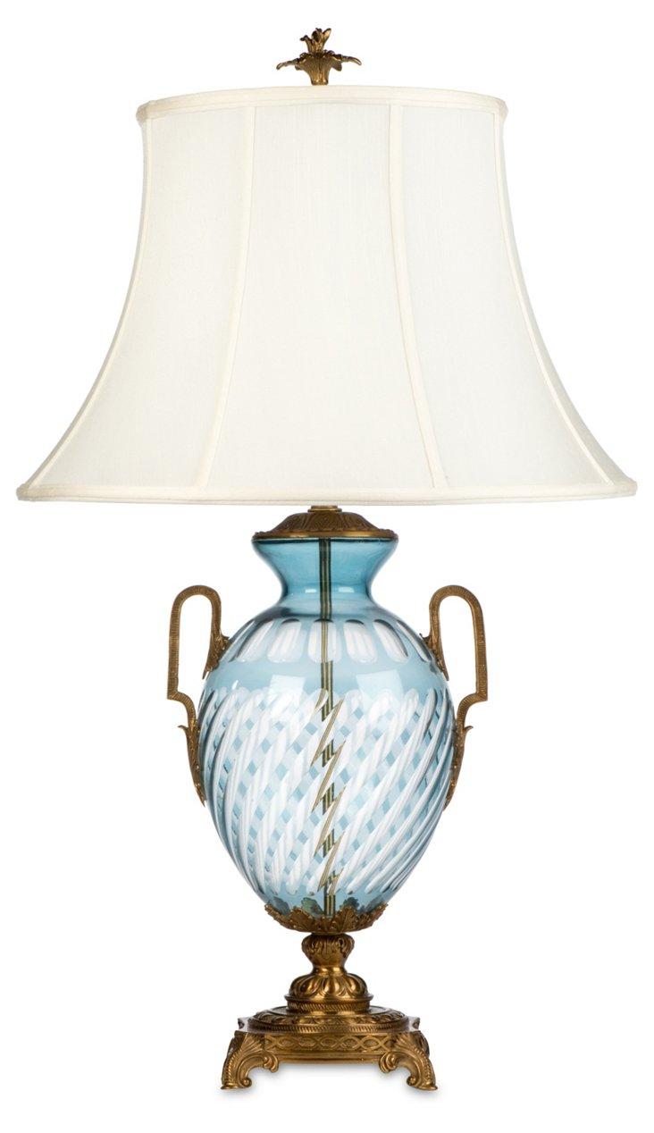 Bluepointe Table Lamp, Pale Blue