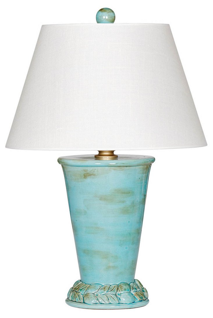 Cypress Table Lamp, Turquoise