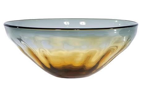 Sunset Server Bowl, Amber