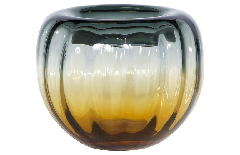 Sunset Bowl, Amber/Gray
