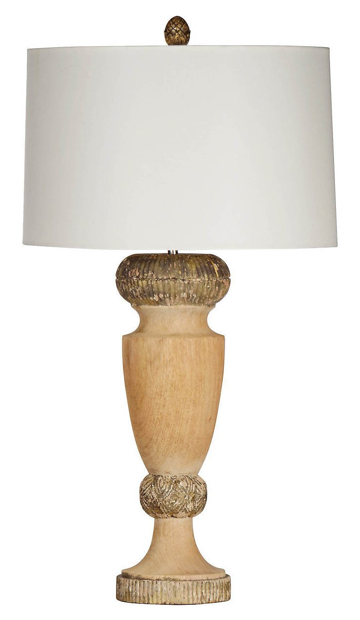 Eau Claire Table Lamp, Natural/Gray/Gold