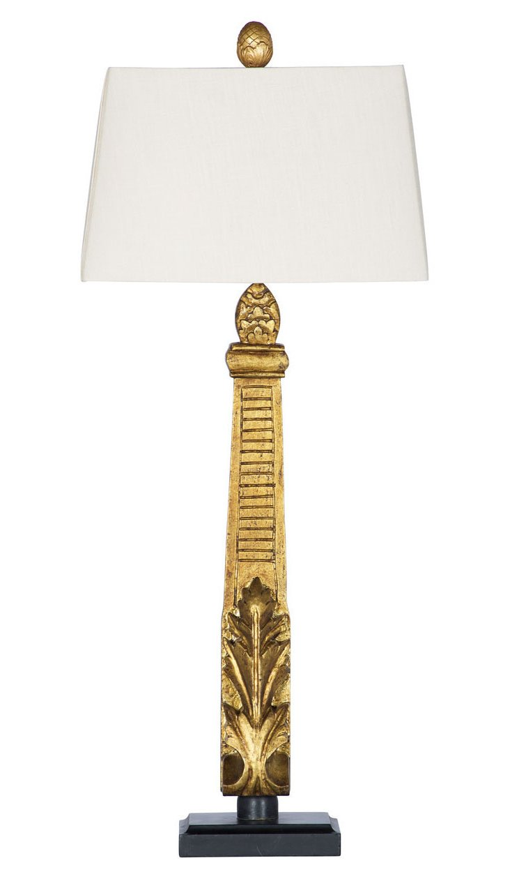 Monument Table Lamp, Gold Leaf