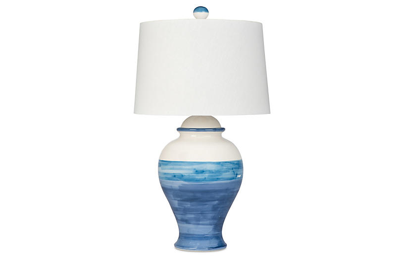 Bimini Beach Table Lamp, Blue