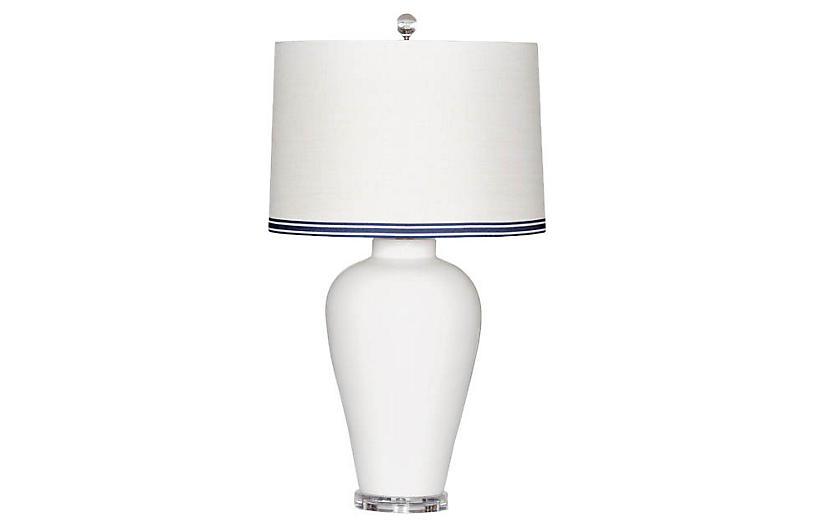 Hamptons Table Lamp, Cream