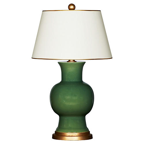Emmy Table Lamp, Green/Gold