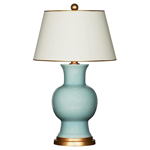 Emmy Table Lamp, Celedon