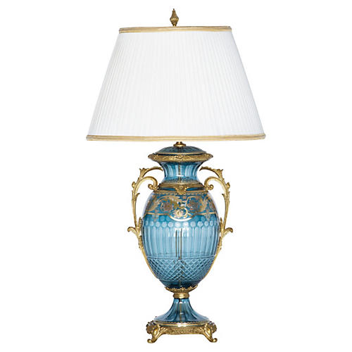 Anaya Table Lamp, Blue
