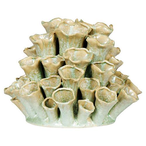 """10"""" Cluster Bud Vase, Celadon"""