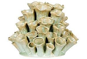 """10"""" Cluster Bud Vase, Celadon*"""