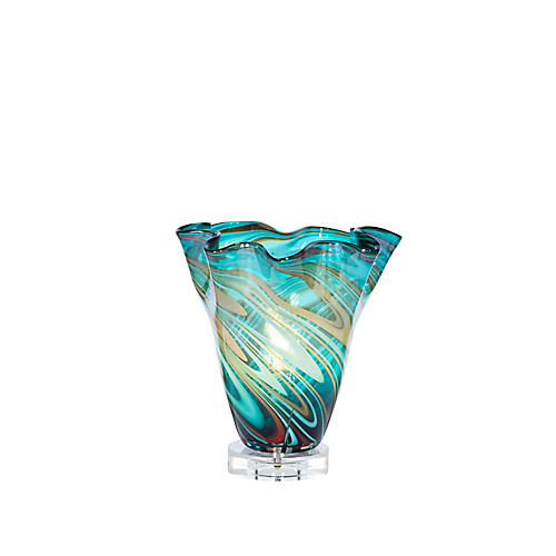 Gianna Vase Table Lamp, Teal