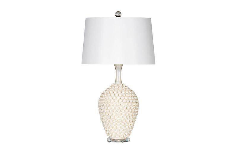 Neptune Table Lamp, Pearl Glaze