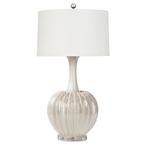James Table Lamp, Pearl Glaze