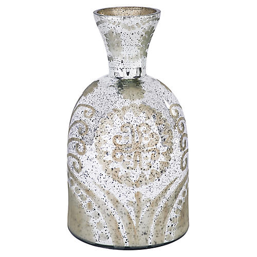 "14"" Lace Vase, Silver"