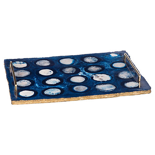"22"" Clayton Tray, Blue"