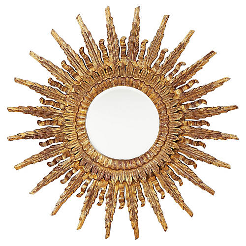 Sunburst Mirror, Gold Leaf