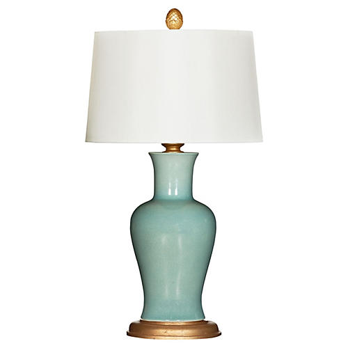 Shiloh Table Lamp, Celedon