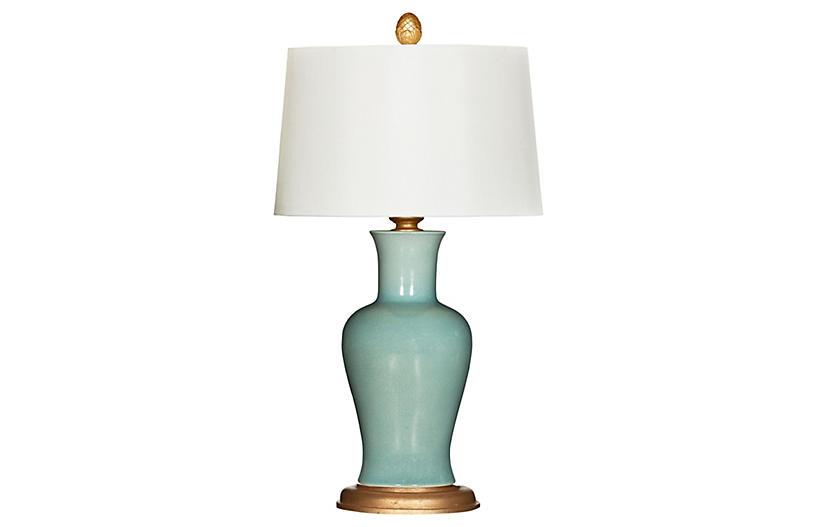 Shiloh Table Lamp, Celedon