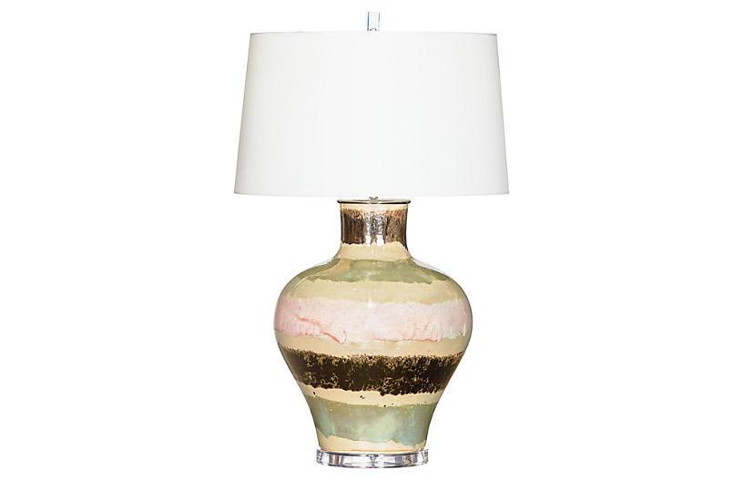 Delmont Table Lamp, Pearl
