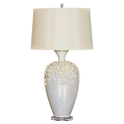 Lana Table Lamp, Pearl